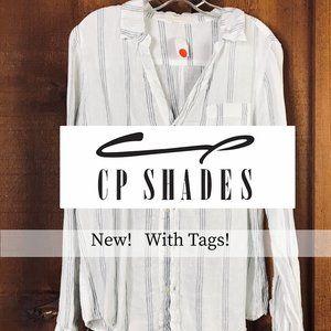 CP Shades Sloane V neck button-down shirt Sz M
